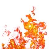 Σύνολο φλογών πυρκαγιάς που απομονώνεται απομονωμένο στο λευκό υπόβαθρο - όμορφο Στοκ Εικόνες
