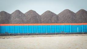 Σύνολο φορτηγίδων του άνθρακα Στοκ Εικόνα
