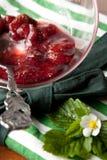 σύνολο φραουλών μαρμελάδας καρπού κύπελλων Στοκ Φωτογραφίες