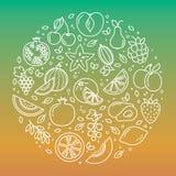 Σύνολο φρούτων κύκλων ελεύθερη απεικόνιση δικαιώματος