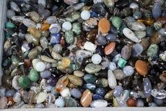 Σύνολο φυσικών ορυκτών πολύτιμων λίθων Στοκ φωτογραφία με δικαίωμα ελεύθερης χρήσης