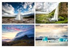 Σύνολο φωτογραφίας της Ισλανδίας ladscapes Στοκ εικόνα με δικαίωμα ελεύθερης χρήσης