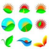σύνολο φύσης εικονιδίων Στοκ εικόνα με δικαίωμα ελεύθερης χρήσης