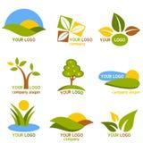 σύνολο φύσης λογότυπων Στοκ Εικόνα