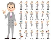 Σύνολο χαρακτήρα επιχειρηματιών Διάφορος θέτει και συγκινήσεις Διανυσματική απεικόνιση