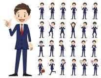 Σύνολο χαρακτήρα επιχειρηματιών Διάφορος θέτει και συγκινήσεις Ελεύθερη απεικόνιση δικαιώματος