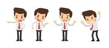 Σύνολο χαρακτήρα επιχειρηματιών στις ενέργειες _ Στοκ εικόνες με δικαίωμα ελεύθερης χρήσης