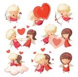 Σύνολο χαριτωμένων cupids. διανυσματική απεικόνιση