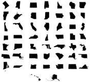 Σύνολο χαρτών αμερικανικών κρατών διανυσματική απεικόνιση