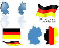 σύνολο χαρτών της Γερμανία Στοκ Εικόνα