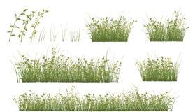 Σύνολο χλόης και λουλουδιών για σας σχέδιο και παιχνίδι στον υπολογιστή Στοκ εικόνα με δικαίωμα ελεύθερης χρήσης