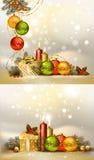σύνολο Χριστουγέννων ανασκοπήσεων Στοκ Εικόνες