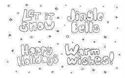 Σύνολο Χριστουγέννων και νέας εγγραφής έτους Στοκ Φωτογραφίες
