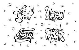 Σύνολο Χριστουγέννων και νέας εγγραφής έτους Στοκ φωτογραφία με δικαίωμα ελεύθερης χρήσης