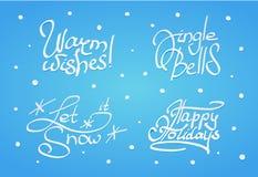 Σύνολο Χριστουγέννων και νέας εγγραφής έτους Στοκ φωτογραφίες με δικαίωμα ελεύθερης χρήσης