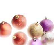 σύνολο Χριστουγέννων σφαιρών Στοκ φωτογραφία με δικαίωμα ελεύθερης χρήσης