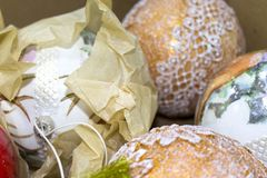 σύνολο Χριστουγέννων σφ&alph Στοκ φωτογραφία με δικαίωμα ελεύθερης χρήσης