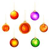 σύνολο Χριστουγέννων σφ&alph Στοκ Εικόνα