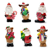 σύνολο Χριστουγέννων χαρακτήρων Στοκ εικόνες με δικαίωμα ελεύθερης χρήσης