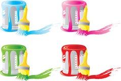 σύνολο χρωμάτων βουρτσών &tau Στοκ φωτογραφία με δικαίωμα ελεύθερης χρήσης
