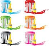 σύνολο χρωμάτων βουρτσών &tau Στοκ εικόνα με δικαίωμα ελεύθερης χρήσης