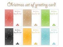 Σύνολο χρωματισμένου Χριστούγεννα διανύσματος προτύπων απεικόνιση αποθεμάτων