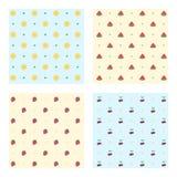 Σύνολο χρωματισμένων σχεδίων φρούτων στοκ εικόνες
