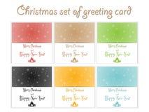 Σύνολο χρωματισμένων Χριστούγεννα προτύπων Στοκ Εικόνα