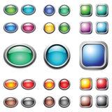 σύνολο χρώματος κουμπιών Στοκ φωτογραφίες με δικαίωμα ελεύθερης χρήσης