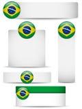 σύνολο χωρών της Βραζιλίας εμβλημάτων Στοκ Εικόνες