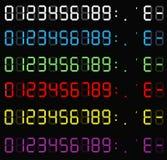 Σύνολο ψηφιακών αριθμών υπολογιστών Ηλεκτρονικοί αριθμοί Ψηφίο LCD απεικόνιση αποθεμάτων