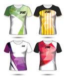 Σύνολο ύφους μπλουζών προτύπων του Τζέρσεϋ ποδοσφαίρου ή ποδοσφαίρου, σχέδιο Στοκ Φωτογραφία
