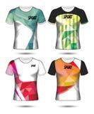 Σύνολο ύφους μπλουζών προτύπων του Τζέρσεϋ ποδοσφαίρου ή ποδοσφαίρου, σχέδιο Στοκ φωτογραφία με δικαίωμα ελεύθερης χρήσης