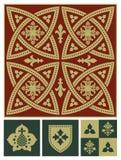 Σύνολο διακοσμήσεων Μεσαιώνων Στοκ φωτογραφίες με δικαίωμα ελεύθερης χρήσης