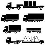Σύνολο διανυσματικών εικονιδίων - σύμβολα μεταφορών Στοκ εικόνες με δικαίωμα ελεύθερης χρήσης