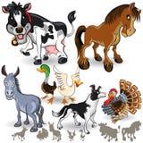 Σύνολο 02 συλλογής ζώων αγροκτημάτων διανυσματική απεικόνιση