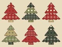 Σύνολο 3 χριστουγεννιάτικων δέντρων Στοκ Φωτογραφία