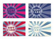Σύνολο 4 καρτών δώρων. Στοκ φωτογραφία με δικαίωμα ελεύθερης χρήσης