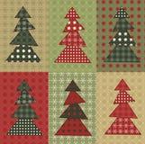 Σύνολο 8 χριστουγεννιάτικων δέντρων Στοκ Εικόνα