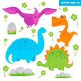 σύνολο dinosaurus Στοκ εικόνες με δικαίωμα ελεύθερης χρήσης