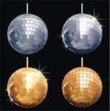 σύνολο disco σφαιρών Στοκ Φωτογραφίες