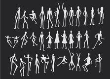 Σύνολο Doodle ανθρώπων Στοκ φωτογραφία με δικαίωμα ελεύθερης χρήσης