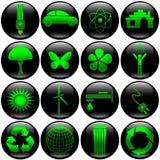 σύνολο eco κουμπιών Στοκ Εικόνα
