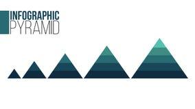 Σύνολο Infographic επιχειρησιακών πυραμίδων Παρουσίαση πυραμίδων με 5 διαγράμματα επιλογών επίσης corel σύρετε το διάνυσμα απεικό απεικόνιση αποθεμάτων