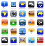 σύνολο iphone εικονιδίων δια&ka Στοκ Εικόνα