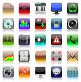 σύνολο iphone εικονιδίων Στοκ εικόνα με δικαίωμα ελεύθερης χρήσης