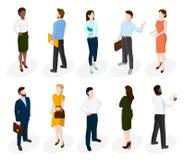 Σύνολο isometric διαφορετικών ανθρώπων διανυσματική απεικόνιση