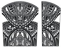 Σύνολο Maori διακοσμήσεων ύφους Δερματοστιξία σώματος ελεύθερη απεικόνιση δικαιώματος