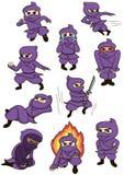 σύνολο ninja Στοκ Εικόνες