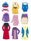 Σύνολο outerwear για τις γυναίκες διανυσματική απεικόνιση